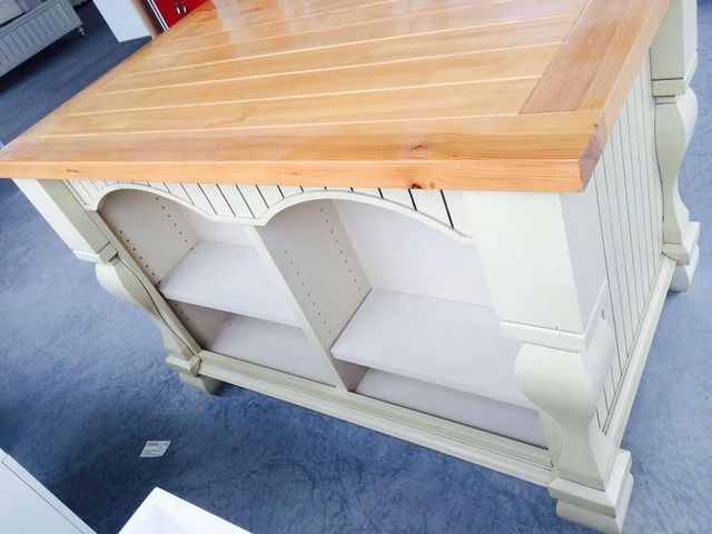 Factory Directly High Quality Solid Wood Kitchen Island