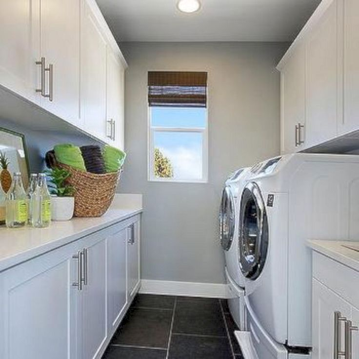 25+ Awesome Black And White Laundry Room Ideas