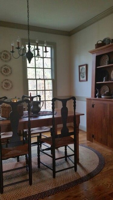 Wonderful Primitive Kitchen, Primitive Dining Rooms, Primitive Furniture, Primitive  Decor, Colonial Kitchen, Farmhouse Interior, Colonial Furniture, Country  Kitchens, ...