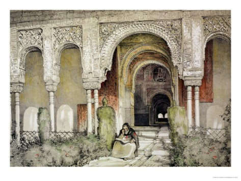 John Frederick Lewis (1805 - 1876, English) Sketches and Drawings of the Alhambra: Entrance to the Hall of the Two Sisters