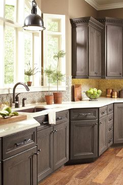 Grey Kitchen Cabinets Design Ideas, Pictures, Remodel, and Decor - page 7