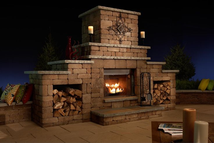 Rockwood Grand Fireplace Kit w/ out wood boxes Dimensions ...