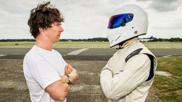 Having a petrol head/nerd freak out moment!!! Benedict Cumberbatch vs The Stig . Some say he was raised by wolves in the middle of Tennessee :)
