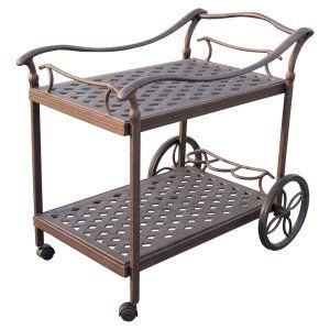 Outdoor Serving Carts on Hayneedle - Outdoor Beverage Cart