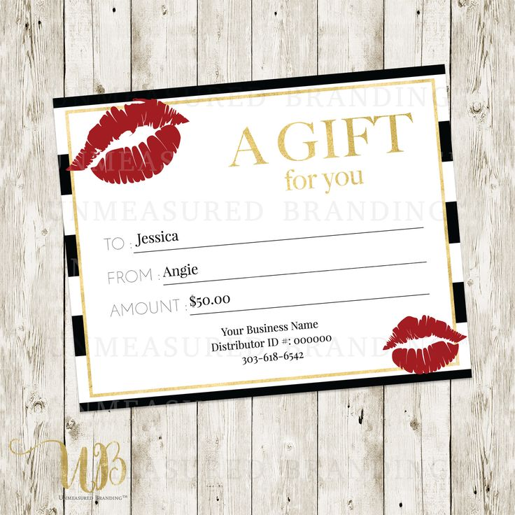 Lipsense gift certificate templat lipsense makeup for Avon gift certificates templates free