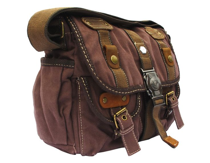Brown Canvas Cross Body #Messenger Bag for #Women