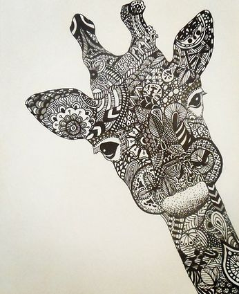 Tribal giraffe tattoo - photo#45