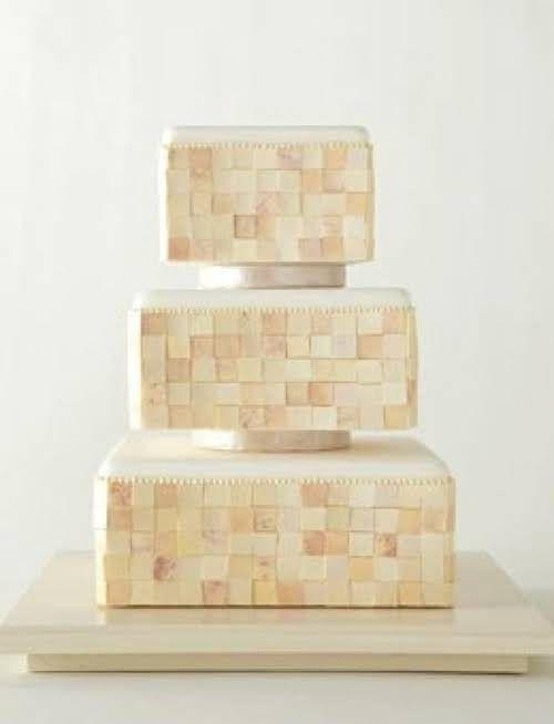 mosaic wedding cake #GOWSredesign
