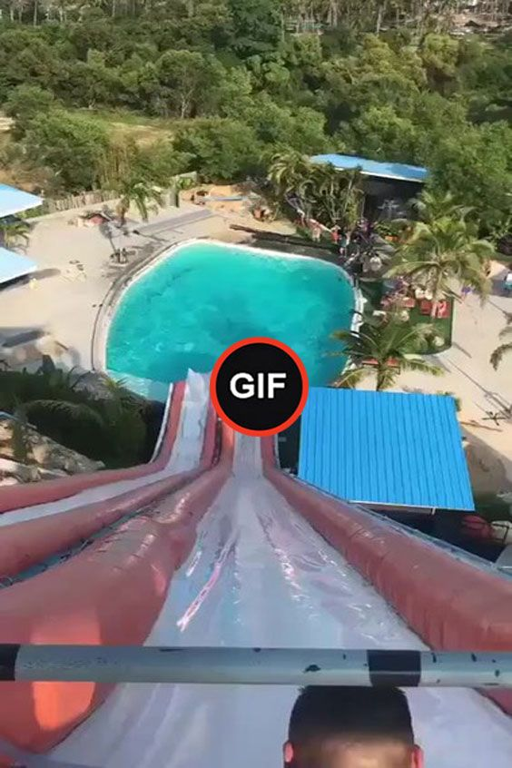 Cool jump to the pool with a water slide – ShareFeed | cool