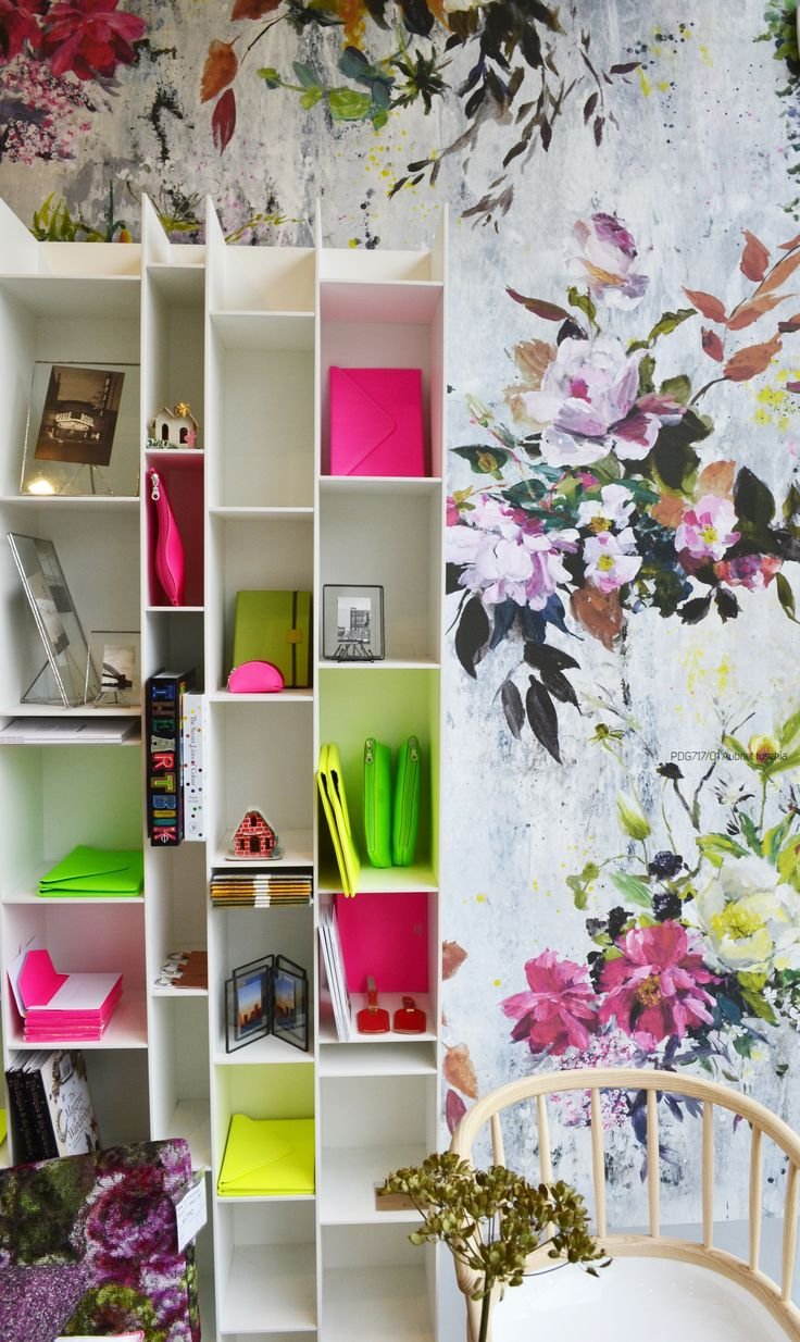 Some bright neon gifts with a backdrop of our stunning Aubriet Fuchsia wallpaper