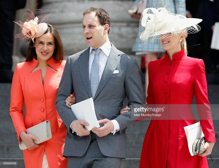 (EMBARGOED FOR PUBLICATION IN UK NEWSPAPERS UNTIL 48 HOURS AFTER CREATE DATE AND TIME) Lady Frederick Windsor, Lord Frederick Windsor and Lady Gabriella Windsor attend a national service of thanksgiving to mark Queen Elizabeth II's 90th birthday at St Paul's Cathedral on June 10, 2016 in London, England. (Photo by Max Mumby/Indigo/Getty Images)