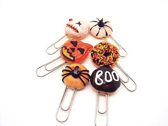 Paper Clips Miniature Halloween Donuts by SmallIdea on Etsy