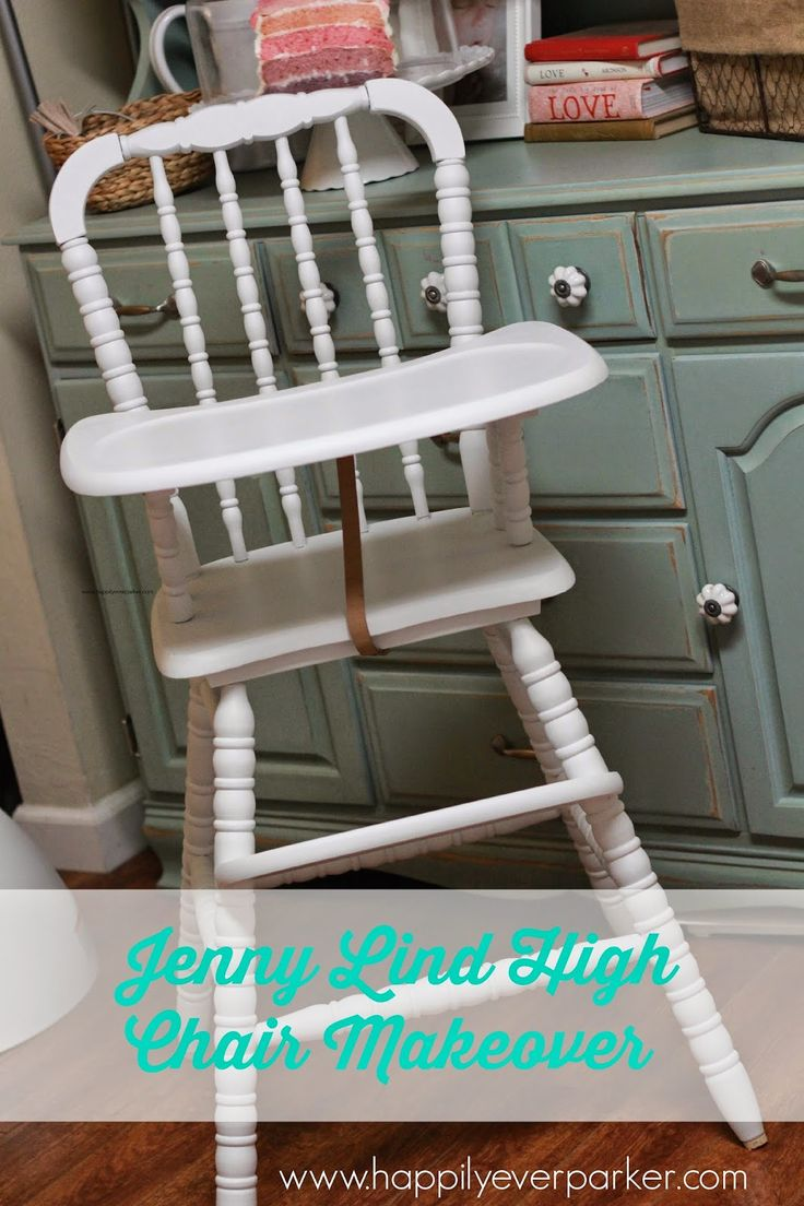 Antique high chair converts to rocking chair - Happily Ever Parker 1980s Jenny Lind High Chair Makeover