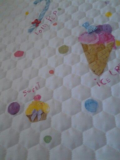 Coperina bambina soggetto dolci