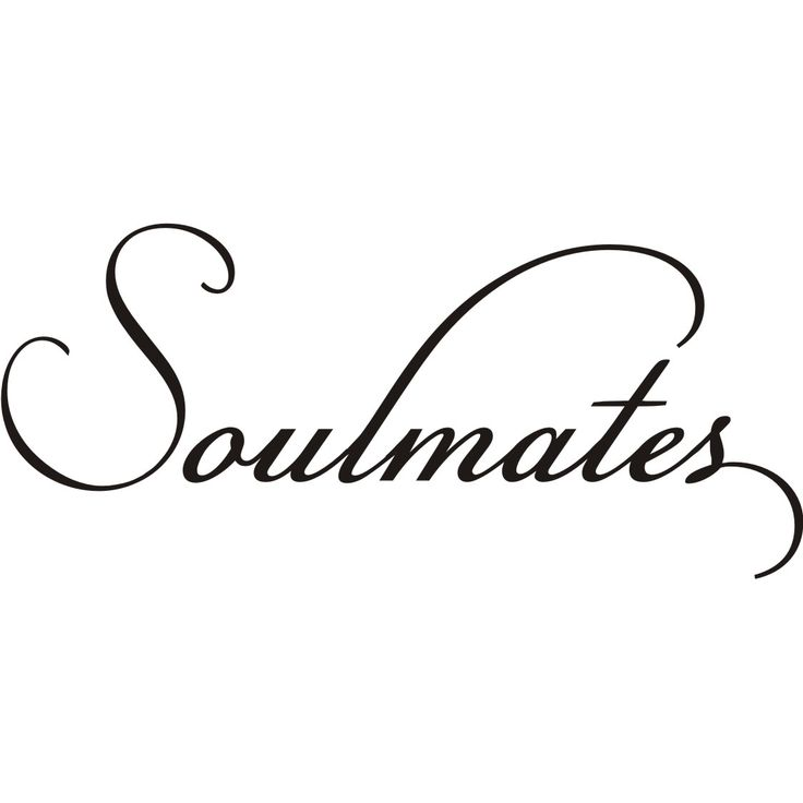 Decorate your home with this 'Soulmates' wall decal. Available in black vinyl, this decal sticks to walls for a personalized, decorative style. Easy to apply, this decal will look good in any space th