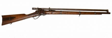 NEW MODEL 1859 SHARPS RIFLE WITH ORIGINAL SCOPE. IN BERDAN SERIAL NUMBER RANGE — Horse Soldier