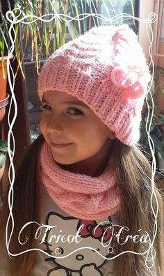 Modèle n°66   Ensemble bonnet, snood et moufles à torsades pour enfant -  Tuto - Ma petite bergère   tricots   Pinterest   Crochet, Snood et Beret bb721a2b007