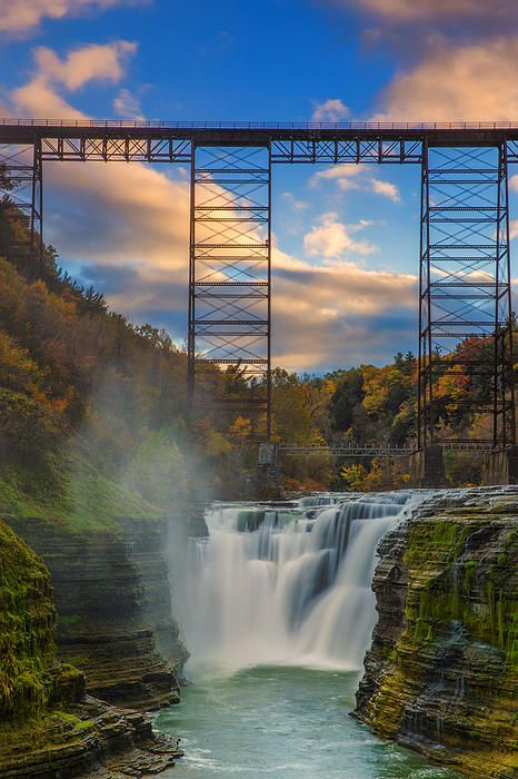 Upper Falls, Letchworth State Park, NY. I've been here in the fall, absolute most beautiful place to visit & camp!