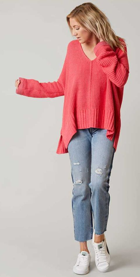 Fall Outfits : Cozy Sweaters : Free People Take Over Me Sweater   Buckle