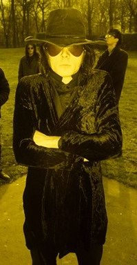 """theblogginggoth: """"Andrew Eldritch in a comfy looking dressing gown. """""""
