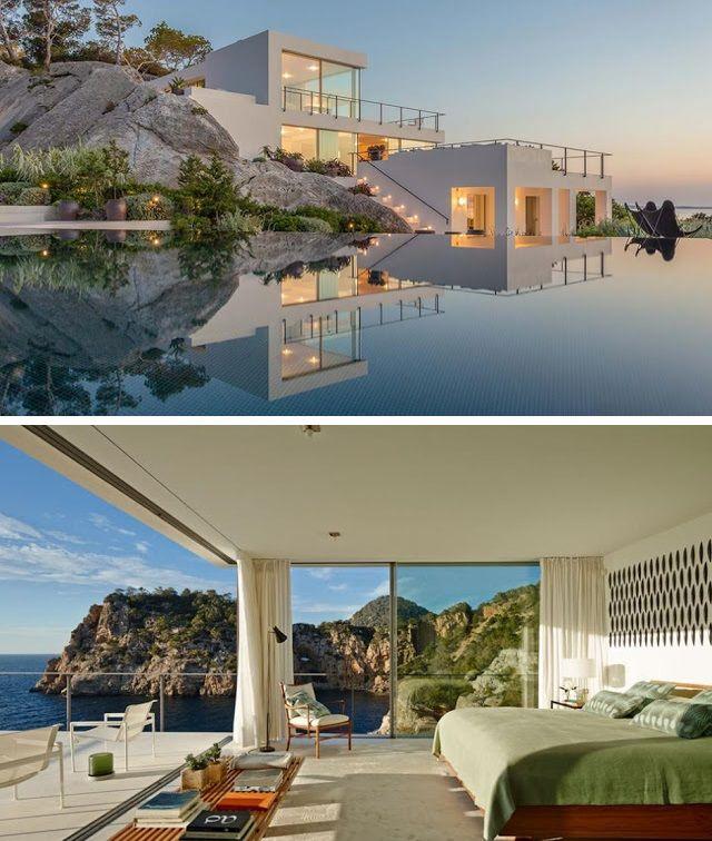 333 best maison images on Pinterest House design, Beach houses and - plan maison demi sous sol