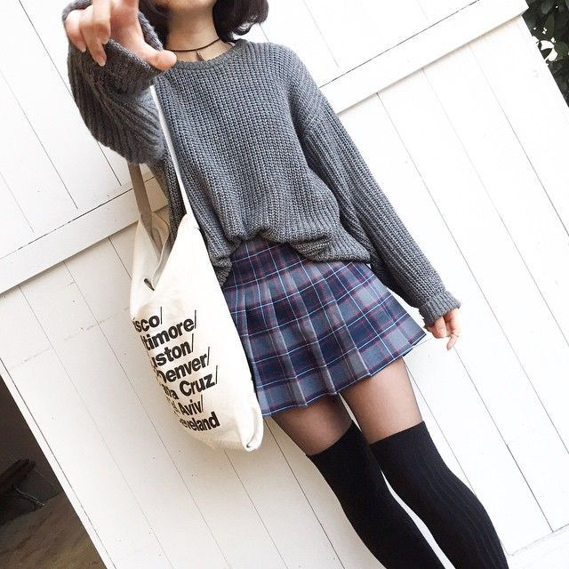 25 best ideas about knee high socks outfit on pinterest