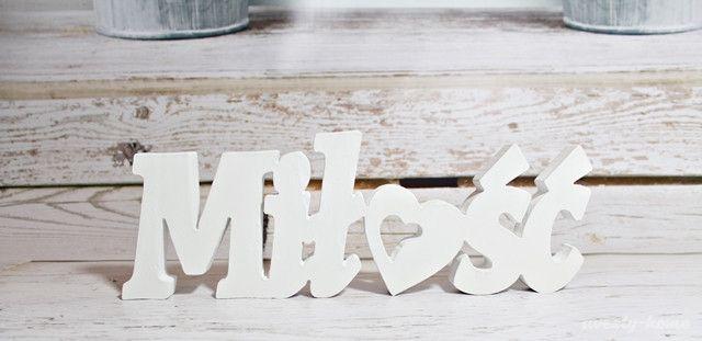 NAPIS MIŁOŚĆ LOVE ŚLUB BIAŁY stojący litery 3D - sweety-home - Litery i napisy