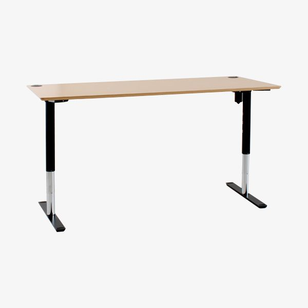 FacebookTwitterGoogle+PinterestE-mail Electrically operated height adjustable desk frame. Medium duty. Telescopically variable width to suit various tops sizes. Ideal frames for rectangular desks and SOHO applications. Height range: 630mm to 1230mm Max Weight: 100kg Colors: Black, White, Silver
