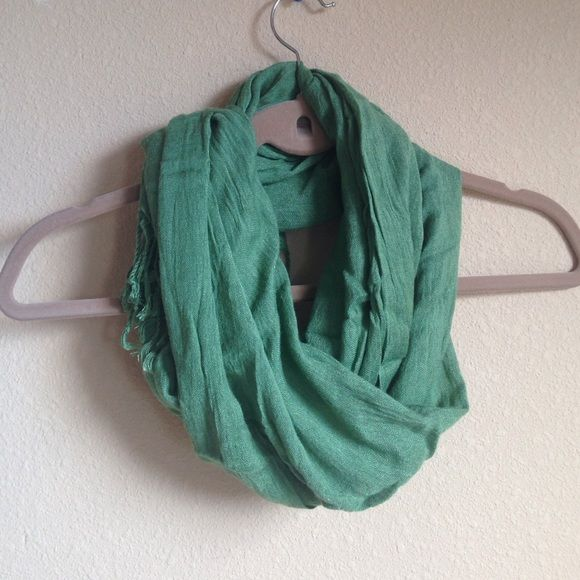 Green Tassle Scarf Gently used, no flaws. Accessories Scarves & Wraps