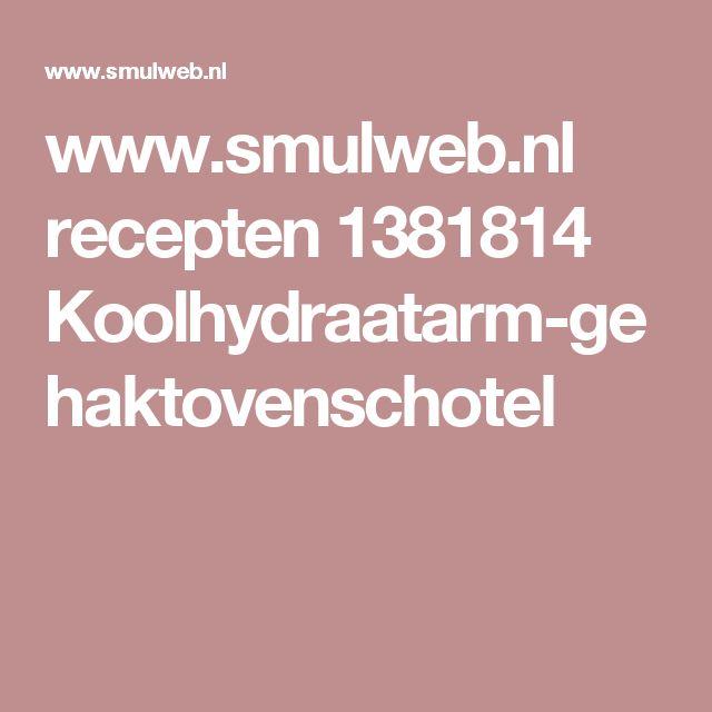 www.smulweb.nl recepten 1381814 Koolhydraatarm-gehaktovenschotel