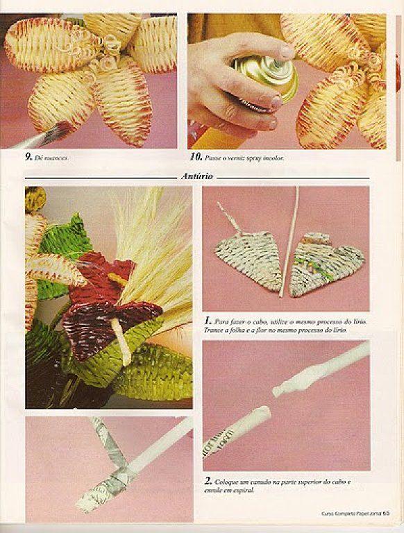 Cestería en papel de periódico (cestería china) (pág. 6) | Aprender manualidades es facilisimo.com