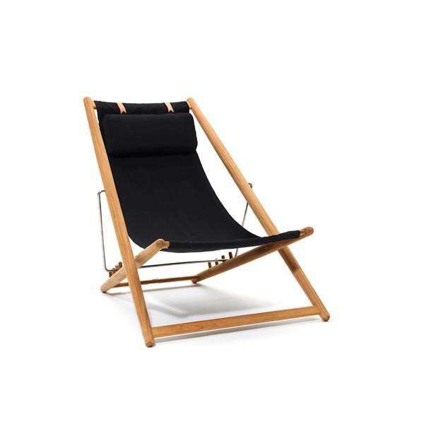 Skargaarden H55 Teak Lounger Lounge Chair Outdoor Outdoor Chairs Folding Lounge Chair