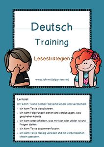 Deutsch Training Lesestrategien