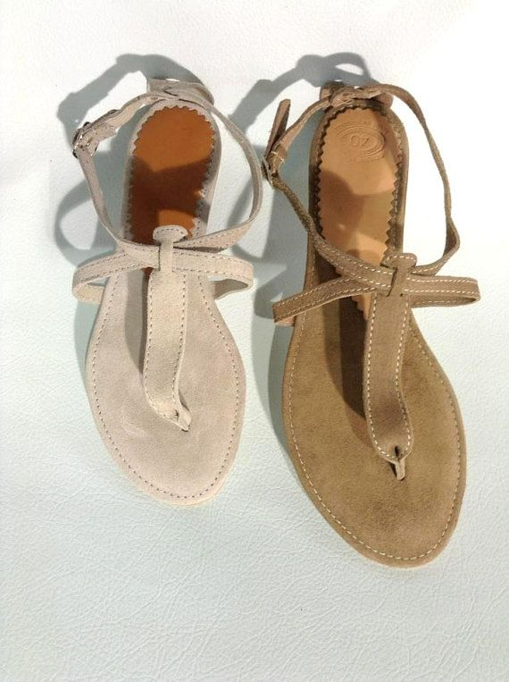 Genuine Leather Sandals Handmade Women's Sandals. by LeatherDream