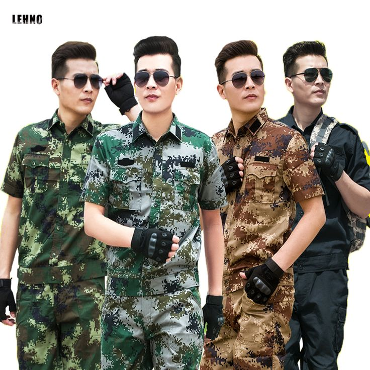 Brand LEHNO Outdoor Camouflage Suit Men's Military Training Clothes Summer Uniforms Jungle commando Army Top+Pant Set #Affiliate