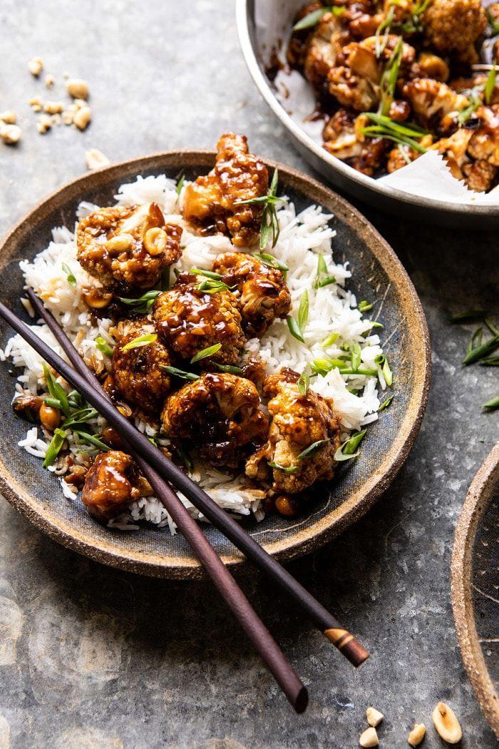 Extra Sticky Kung Pao Cauliflower