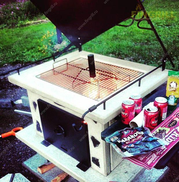Финский гриль барбекю Classic выполнен из жаропрочного бетона. Гриль барбекю подходит для установки на открытом воздухе. www.fingrill.ru