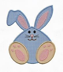 Chunky Bunny Applique - 3 Sizes! | Easter | Machine Embroidery Designs | SWAKembroidery.com Applique for Kids