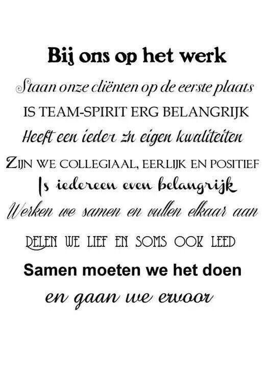 Collegiaal zijn! Teamverband :)