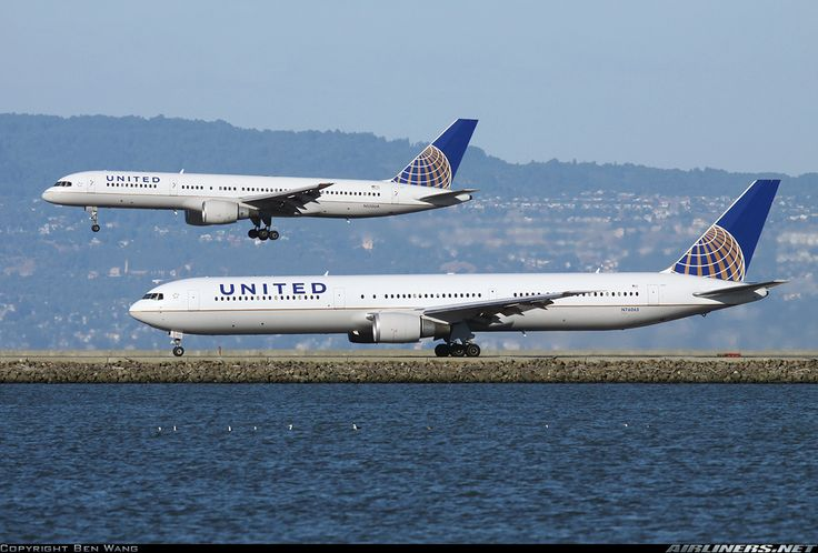 Boeing 767-400, with Boeing 757-200 at San Francisco. The side by side landings/takeoffs are cool!