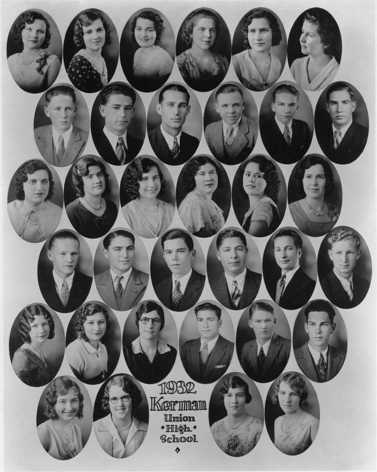 1930s teen fashion, high school senior yearbook 1932