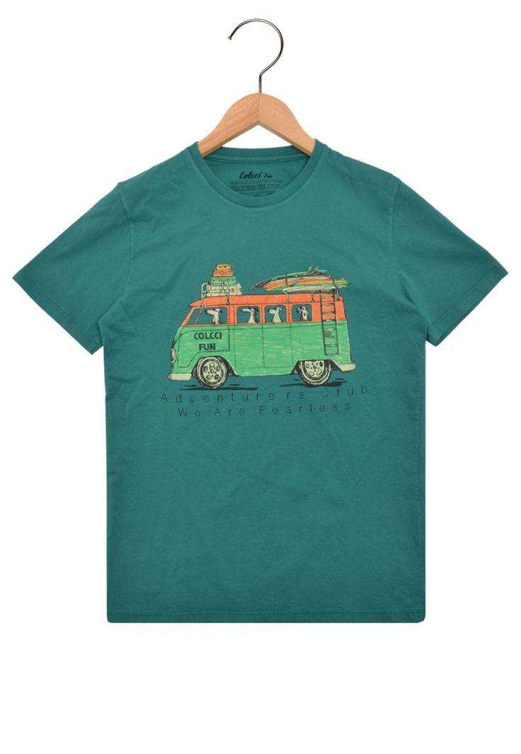 Camiseta Colcci Fun Manga Curta Menino Verde - Marca Colcci Fun