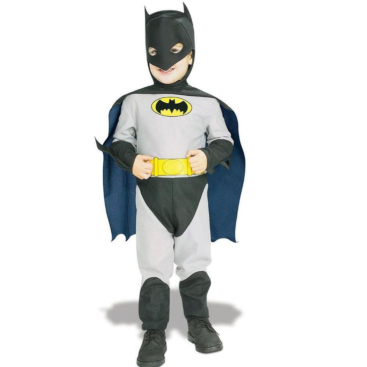 Dress your tyke as their favorite superhero in this complete Batman toddler costume. So cute! This costume includes headpiece imprinted…