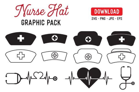 Nurse Hat Graphic Pack Graphic By The Gradient Fox Creative Fabrica Nurse Hat Graphic Shop Artwork