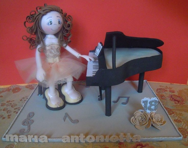 Pianista goma eva