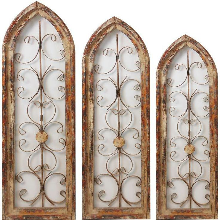 Antique arched windows for sale qc026 w set of 3 arched Reclaimed wood wall art for sale