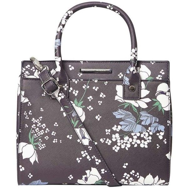 Dorothy Perkins Navy Floral Mini Slip Tote Bag ($45) ❤ liked on Polyvore featuring bags, handbags, tote bags, blue, mini handbags, mini tote, purple purse, floral tote bag and navy tote