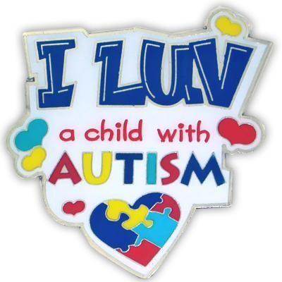 I Love a Child with Autism Lapel Pin - Brad's Little Aussie Autism Shop