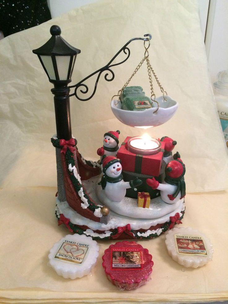 BN YANKEE CANDLE Hanging Tart Burner & Tarts/Melts Animated, Music Christmas
