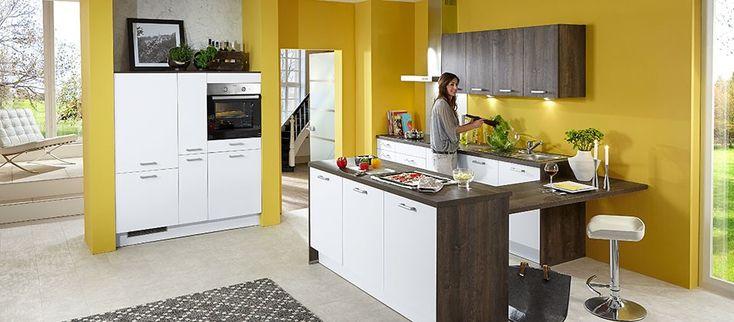 Einbauküche in attraktivem farbmix haus der küchen